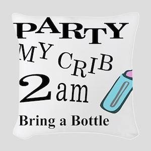 partymy crib Woven Throw Pillow