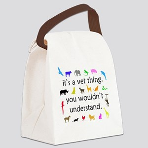 vet thing ongoing 3 color Canvas Lunch Bag
