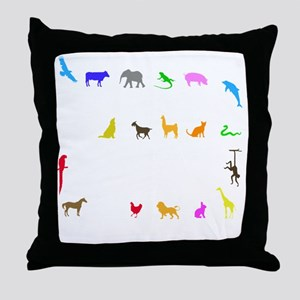 vet thing ongoing 3 trans color Throw Pillow
