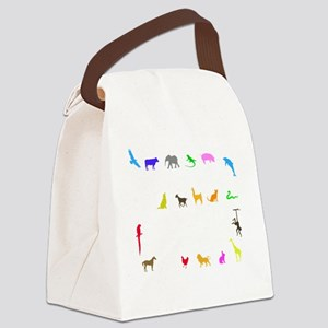vet thing ongoing 3 trans color Canvas Lunch Bag