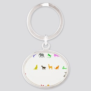 vet thing ongoing 3 trans color Oval Keychain