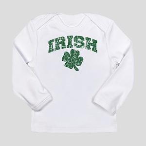 Worn Irish Shamrock Long Sleeve T-Shirt