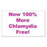 Chlamydia Free Sticker (Rectangle)