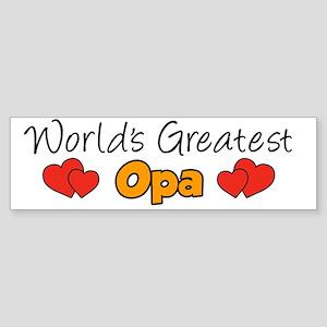 Worlds Greatest Opa Mug Sticker (Bumper)