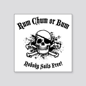 "rum-chum-bum-LTT Square Sticker 3"" x 3"""