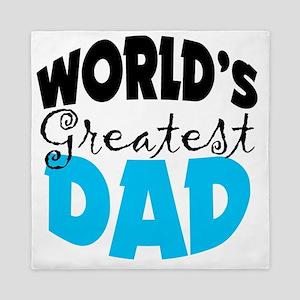 Worlds Greatest Dad White Shirts Queen Duvet