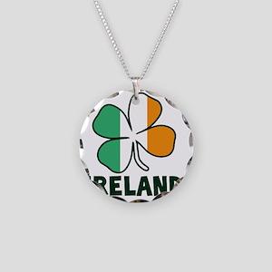 Ireland 4 Leaf Necklace Circle Charm