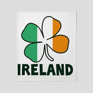 Ireland 4 Leaf Throw Blanket