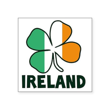 "Ireland 4 Leaf Square Sticker 3"" x 3"""