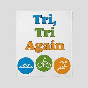 tri_tri_again2 Throw Blanket