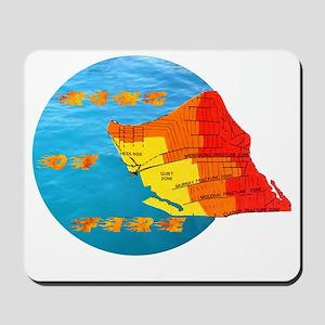 tsunami ring of fire pacific ocean Mousepad