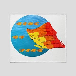 tsunami ring of fire pacific ocean Throw Blanket
