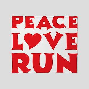 peace love run red Throw Blanket