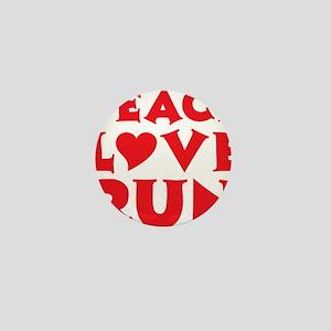 peace love run red Mini Button
