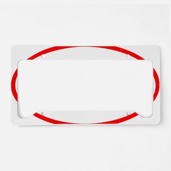 Tri_Eclipse_red License Plate Holder
