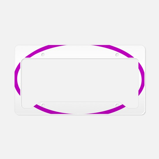 Tri Eclipse purple License Plate Holder