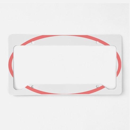 Tri_Eclipse_pink License Plate Holder