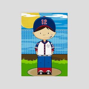 Baseball 6 5'x7'Area Rug