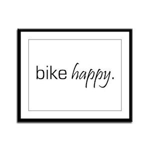 Bike Happy Framed Panel Print
