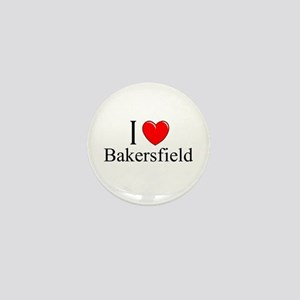 """I Love Bakersfield"" Mini Button"