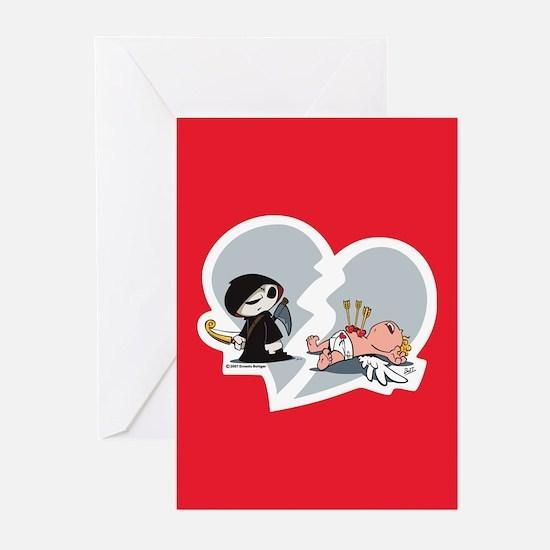 Trevor vs. Cupid Greeting Cards (Pk of 10)