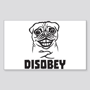 Pug Sticker (Rectangle)