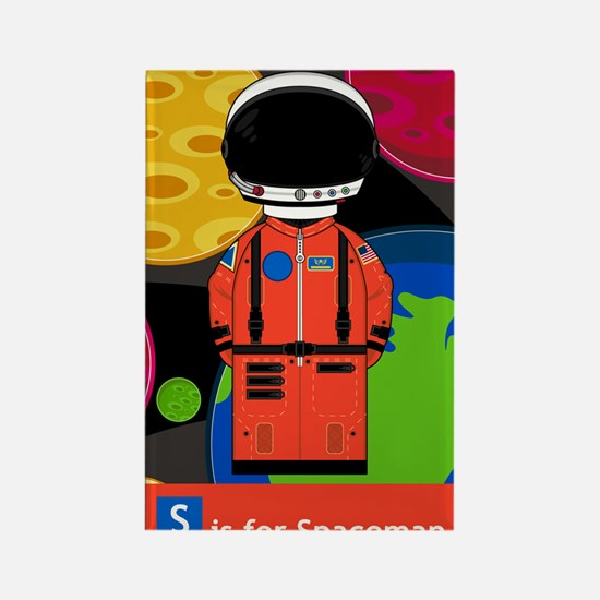 Spaceman in Helmet Rectangle Magnet