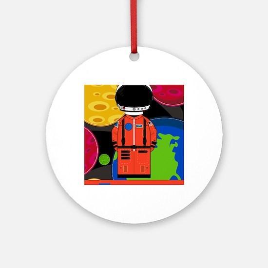 Spaceman in Helmet Round Ornament