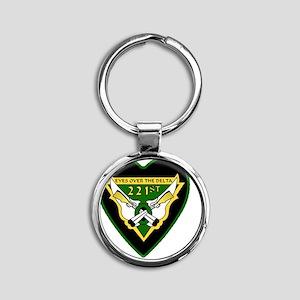 221st-RAC-69-71-heart-neckl Round Keychain
