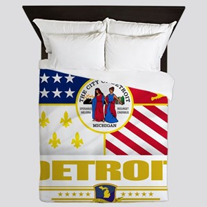 Detroit (Flag 10) Queen Duvet