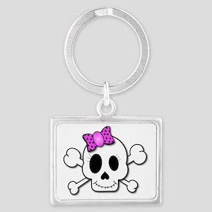 cute skull4 Landscape Keychain