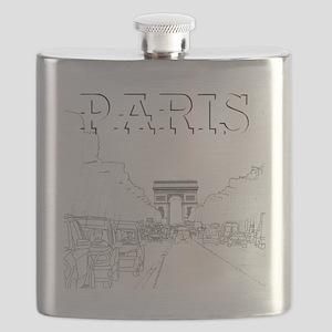 Paris_10x10_apparel_ChampsElysees_BlackOutli Flask