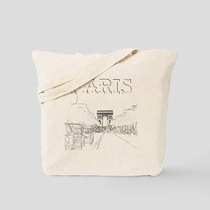 Paris 10x10 apparel ChampsElysees BlackOu Tote Bag e9e1d0bc98205
