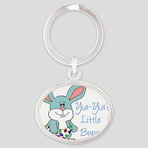 Yia-Yia Little Bunny Oval Keychain