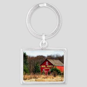 mail pouch barn (2) Landscape Keychain