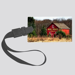 mail pouch barn (2) Large Luggage Tag