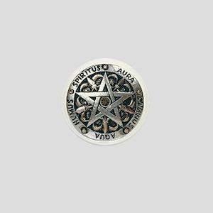 wiccan pentagram 2 Mini Button