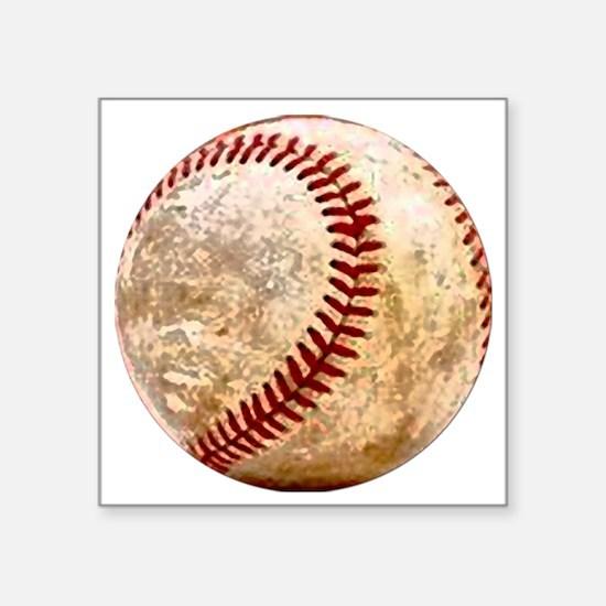 "baseball_ball Square Sticker 3"" x 3"""