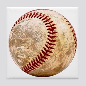 baseball_ball Tile Coaster