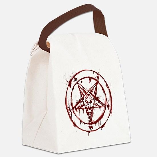 slayer pentagram Canvas Lunch Bag