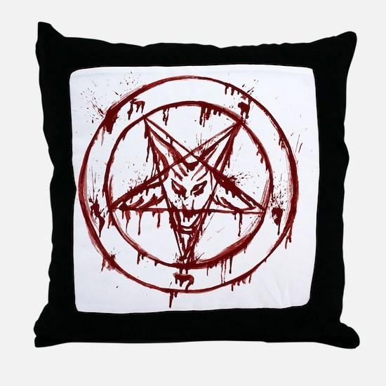 slayer pentagram Throw Pillow