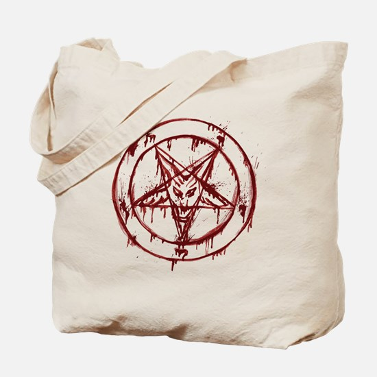 slayer pentagram Tote Bag
