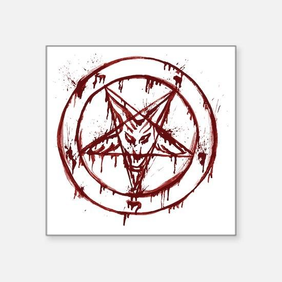 "slayer pentagram Square Sticker 3"" x 3"""