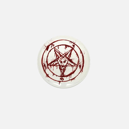 slayer pentagram Mini Button
