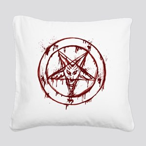 slayer pentagram Square Canvas Pillow