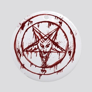 slayer pentagram Round Ornament