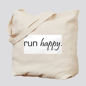 Run Happy Tote Bag