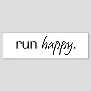 Run Happy Bumper Sticker