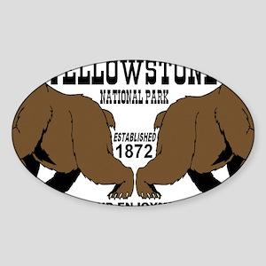 two_bears_YNP Sticker (Oval)