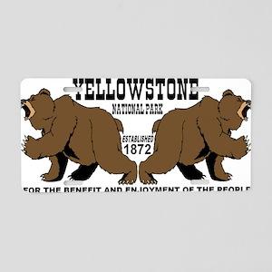 two_bears_YNP Aluminum License Plate